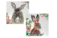 Fluffy Hare/Cheerful Donkey Double Pack