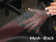 "Heavy Duty Black Mesh Tarp - 7'6"" X 36' (20-C10225/1802100)"