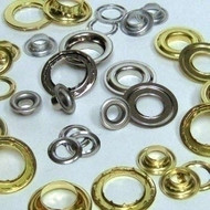 Oblong A780 Brass Grommet W/ C366 Brass Washer