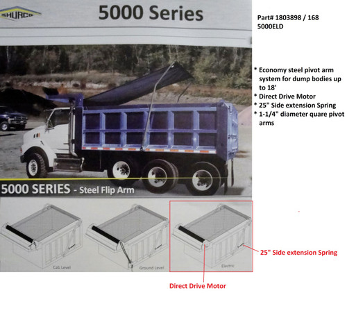 5000ELD™ Dump Truck Roll Tarp System, Complete System (20-168/1803898)