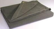 12' X 16' c/s 12.41 oz.. Flame Resistant Canvas Tarp W/Grommets 24'' Apart