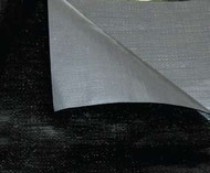 30' X 60'Black/Silverpoly Tarp W/ Rope In Hems W/ Grommets 24'' Apart