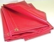 12' X 24' 13 oz.. Red Vinyl Flame Retardant Laminated Tarp