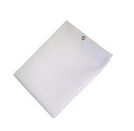 12' X 20' 35 oz. White Fiberglass Blanket W/Grommets 24'' Apart