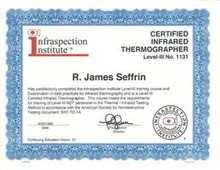 Certified Infrared Thermographer® Certificate