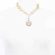 Druzy Quartz Toggle Necklace