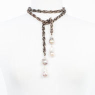 Double Baroque Lariat Necklace