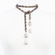 Double Baroque Lariat Necklace