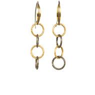 Mixed Metal Link Earrings