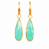 Tear Drop Turquoise Gold Earrings