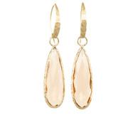 Soft Peach Quartz Earrings