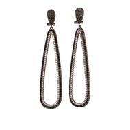 Spinel CZ Teardrop Earrings