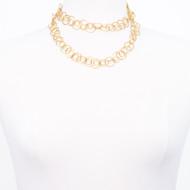 Interlocking Gold Necklace