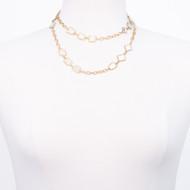 Faceted Aqua Marine Stone Necklace