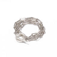 Double Wrapped Sterling Bracelet