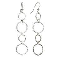 Hammered Sterling Silver Link Earrings