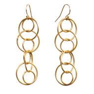 Interlocking Gold Dangle Earrings