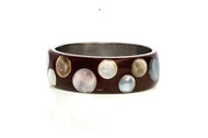 Brown Circle Mosaic Bangle
