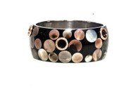 Pave Mother of Pearl Dotted Bangle
