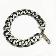 Mens Pewter Heavy Link Bracelet
