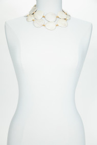 Cream Mother of Pearl Belt Necklace