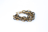 Gold and Gunmetal Link Bracelet