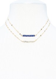 Faceted Sapphire Petite Necklace