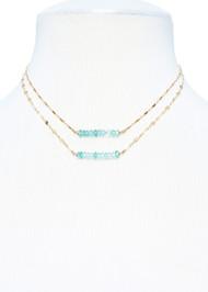 Petite Aqua Marine Necklace