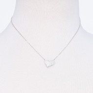 Sterling Cubic Zirconia Heart Necklace