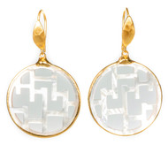 Mother of Pearl Round Earring