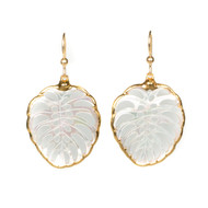 Mother of Pearl Carved Earring