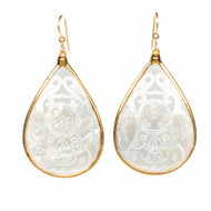 Mother of Pearl Large Earring