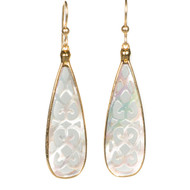 Mother of Pearl Tear Earring