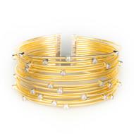 Gold Cable Wire Cz Cuff