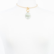 Silver Tone Mother of Pearl Choker