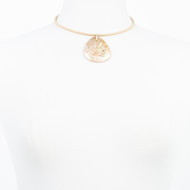 Gold Crackle Mother of Pearl Diamond Choker