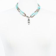 Crystal Diamond Turquoise Necklace