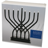 Black Electric Menorah