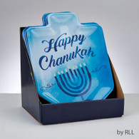 """Sapphire Collection"" Dreidel Shaped Melamine Serving Tray"