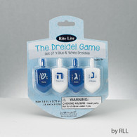 Plastic Blue and White Dreidels