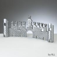 Jerusalem Walls Aluminum Menorah