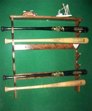 BASEBALL BAT RACKS,  Gun Style Six Bat With Top Shelf  FF 206