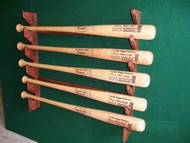 BASEBALL BAT RACKS, Five Bat Gun Style Wall Mount  DD 205, Village Wood Shoppe