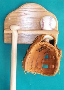 Baseball Bat And Glove Display Aa 201 Village Wood Shoppe