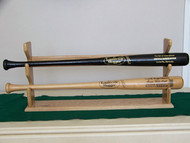 BASEBALL BAT RACKS,  A nice 2 bat table top display  T 111 ,