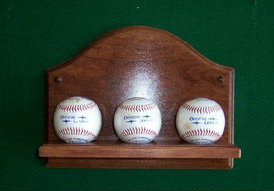 3 Baseball Wall Holder Display WBC 204