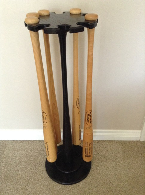 Pedestal 10 Baseball Bat Minus Wood Ball Top- Floor Display Racks Jackson, MI