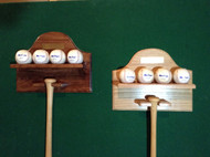 Bat and Baseball Wall Display BB104 Brass plate sold separately.