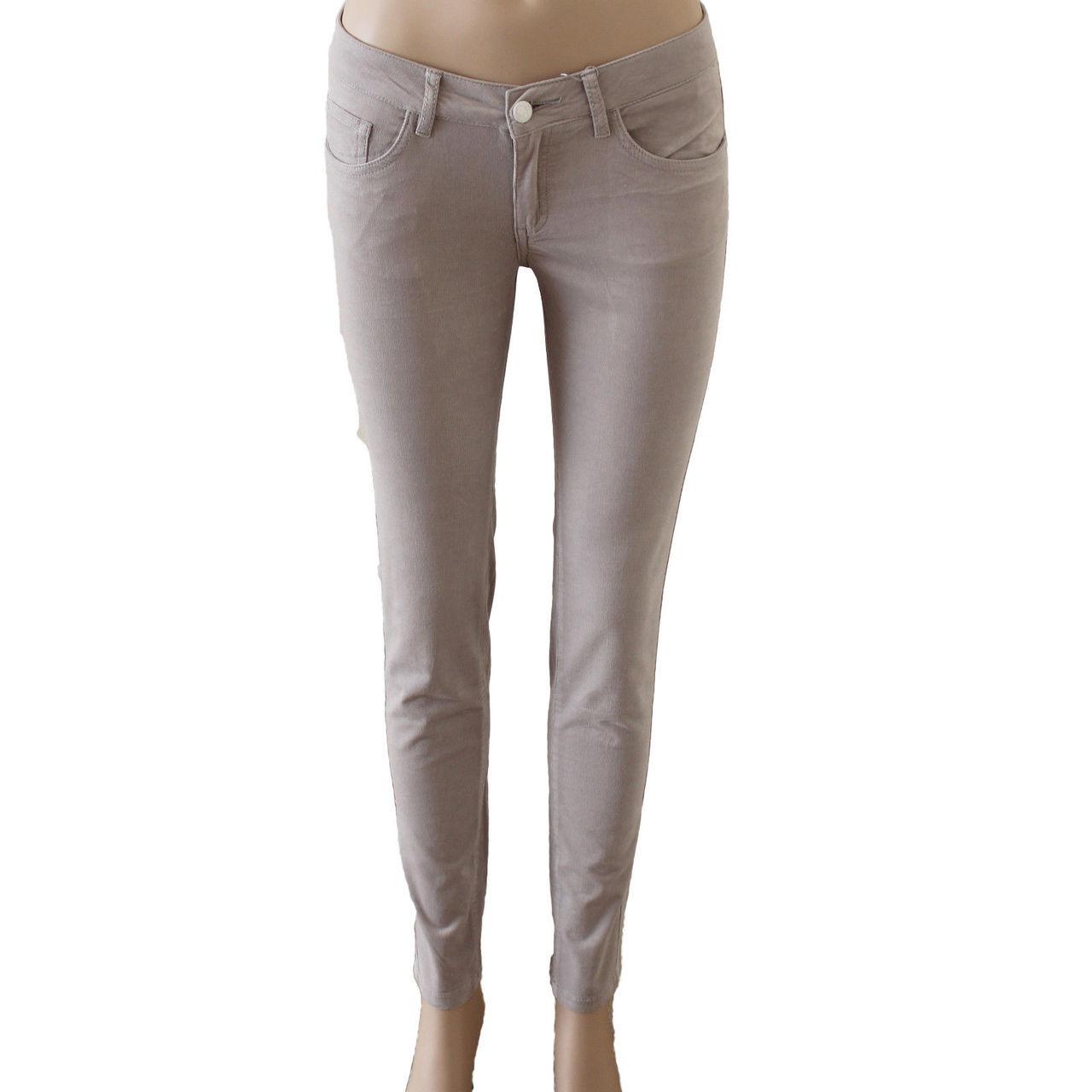 2fb05426e5f Womens Corduroy Pants Stretch Skinny Grey
