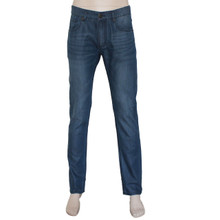 Men's Blue Washed Lyocell Denim Jeans Slim Fit